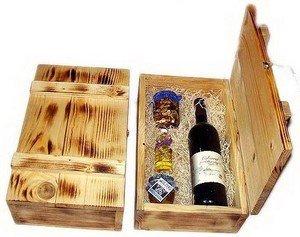 Коробка для бокалов из дерева